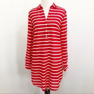 Old Navy striped tunic swim cover up nautical